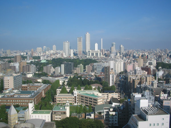 View from Myōgadani towards Ikebukuro